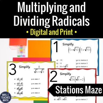 Multiplying And Dividing Radicals Teaching Resources Teachers Pay