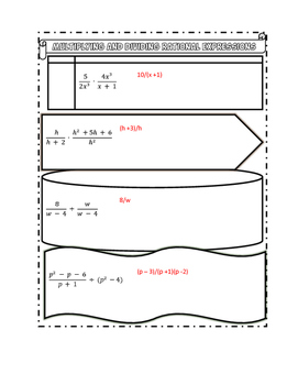 Multiplying and Dividing Rational Expressions Notes