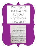 Multiplying and Dividing Rational Expressions Foldable Notes