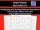 Multiplying and Dividing Rational Expressions Math Maze