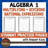 Multiplying and Dividing Rational Expressions - Student Practice Pages