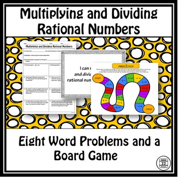 Multiplying and Dividing Rational Numbers Activity