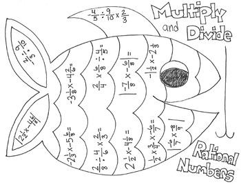 Multiplying and Dividing Rational Numbers Coloring Page