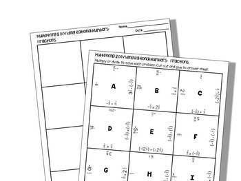 Multiplying and Dividing Rational Numbers:Fractions, Student Puzzle