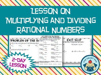 Multiplying and Dividing Rational Numbers Lesson