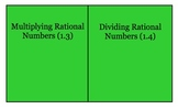 Multiplying and Dividing Rational Numbers Lesson/Foldable