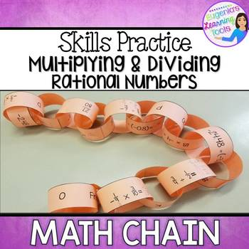 Multiplying and Dividing Rational Numbers Math Chain