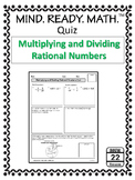 Multiplying and Dividing Rational Numbers Quiz