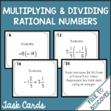 Multiplying and Dividing Rational Numbers Activity - Task Cards