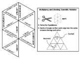 Multiplying and Dividing Scientific Notation Game: Math Tarsia Puzzle