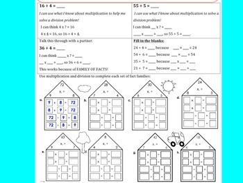 Multiplying and Dividing Using Arrays