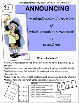 Multiplying and Dividing Whole Numbers & Decimals by 10 & 100