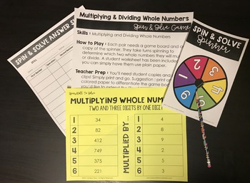 Multiplying and Dividing Whole Numbers Review Game