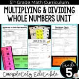 Multiplying and Dividing Whole Numbers Unit