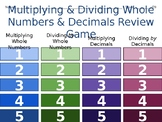 5th grade Multiplying and Dividing Whole Numbers and Decimals