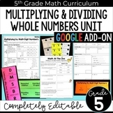 Multiplying and Dividing Whole Numbners Unit - GOOGLE Form