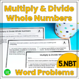 Multiply and Divide Whole Numbers Word Problems