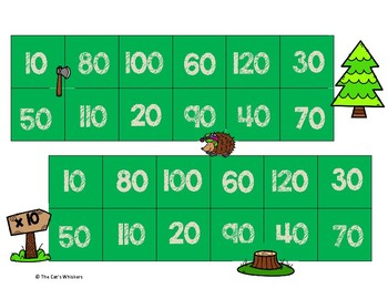 Multiplying and Dividing by 10 Christmas Tree Farm Games