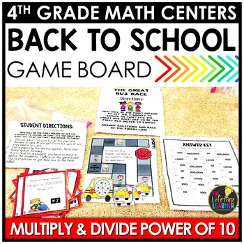 Multiplying and Dividing by Power of Ten Back to School Game