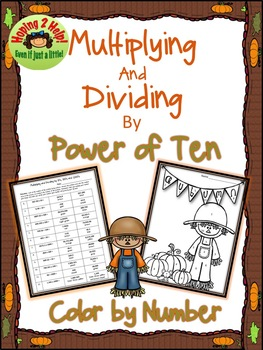 Multiplying and Dividing by Power of Ten - Color by Number Activity