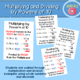 Multiplying and Dividing by Powers of 10 Anchor Charts