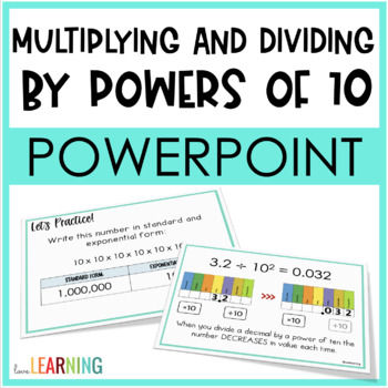 Multiplying and Dividing by Powers of 10 Lesson {5th Grade