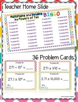 Multiplying and Dividing by Powers of Ten Digital Bingo