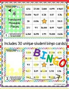 Multiplying and Dividing by Powers of Ten Digital Bingo