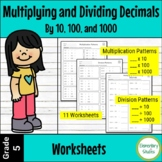 Multiplying and Dividing decimals by 10, 100, and 1000 Worksheets