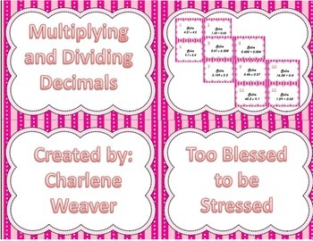 Multiplying and Dividing with Decimals