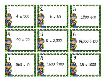 Multiplying and Dividing with Multiples of Ten - Christmas Theme