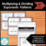 5th Grade Multiplying and Dividing Exponents Math Task Cards