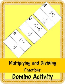 Multiplying and Dividng Fractions Domino Activity