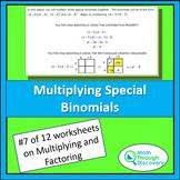 Algebra 1 - Multiplying and Factoring - Lesson 7 - Multipl