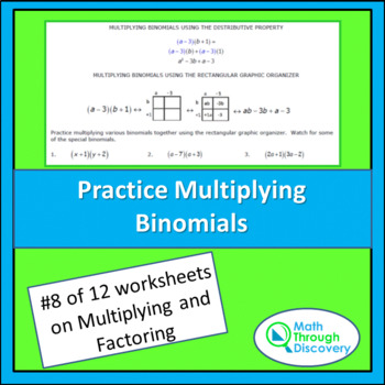 Algebra 1: Multiplying and Factoring - Lesson 8 - Practice Multiplying Binomials