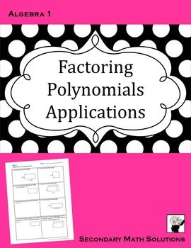 Factoring Polynomials Applications