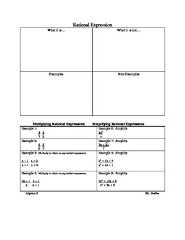 Multiplying and Simplifying Rational Expressions