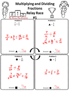 Multiplying and Dividing Fractions Relay Race