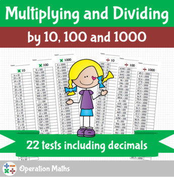Multiplying and dividing by 10, 100 and 1000