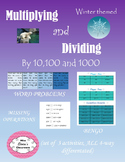 Multiplying and dividing by 10, 100 and 1000 pack of 3 activities WINTER THEMED!