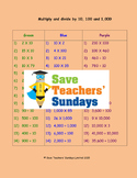 Multiplying and Dividing by 10 and 100 Lesson Plans, Worksheets and More