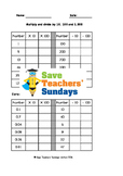 Multiplying and Dividing by 10 and 100 Worksheets (3 levels of difficulty)