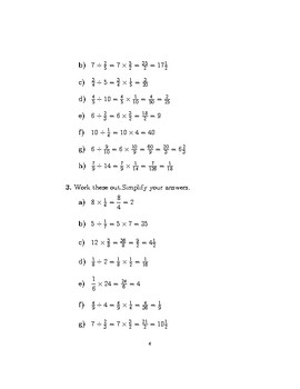 Multiplying and dividing fractions and whole numbers