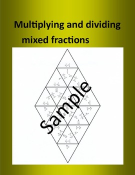 Multiplying and dividing mixed fractions – Math puzzle