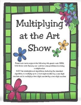 Multiplying at the Art Show: 4th Grade Texas Math