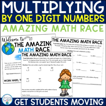 Multiplying by 1-Digit Numbers Review (Amazing Math Race)
