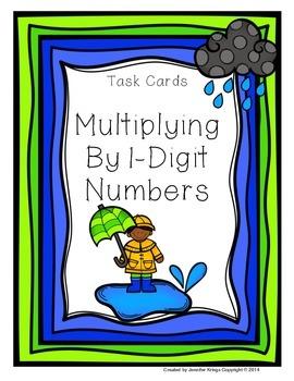 Multiplying by 1-Digit Numbers - Task Cards