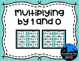 Multiplying by 1 and 0 Flash Cards