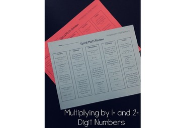 Multiplying by 1- and 2-Digit Numbers