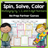 Multiplying by 1-digit, 2-digit, and 3-digit Numbers NO PREP Partner Games